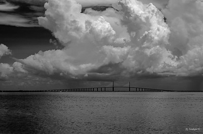 Skyway with Storm Clouds