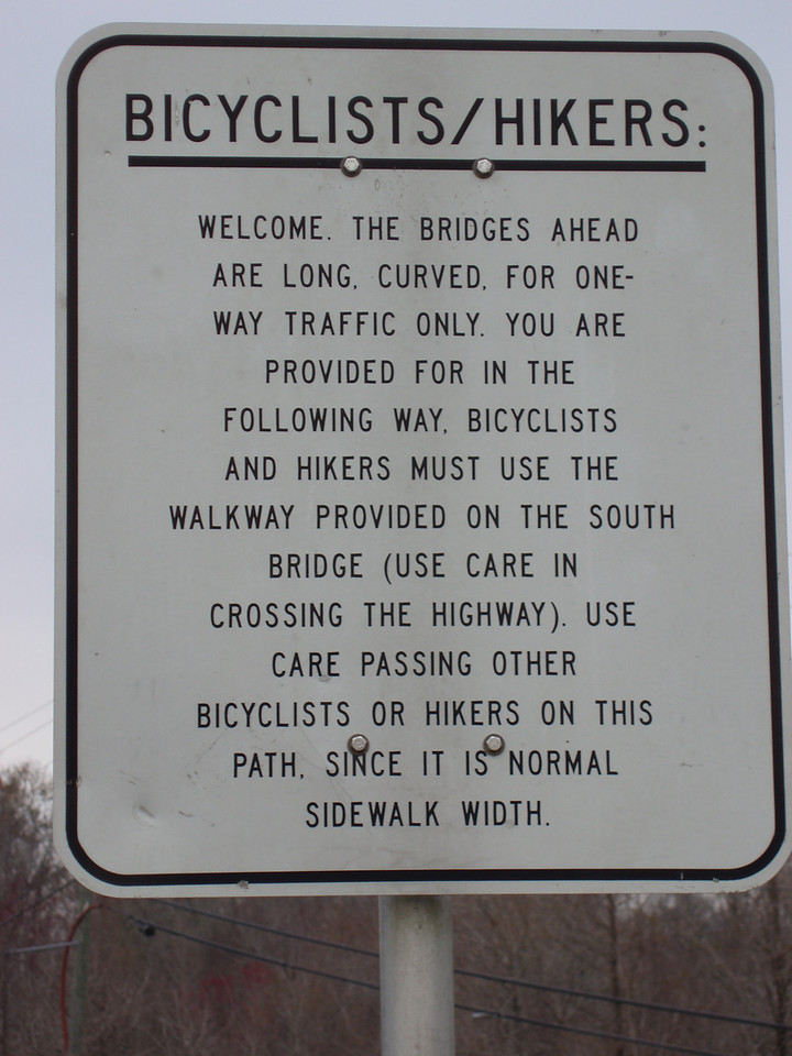Sign on the Apalachicola River Bridge<br /> photo credit: Robert Coveney / Florida Trail Association