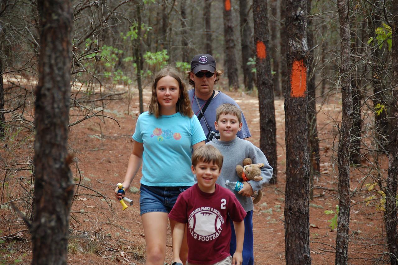 Hiking at Econfina Creek<br /> PHOTO CREDIT: Kent Wimmer / Florida Trail Association