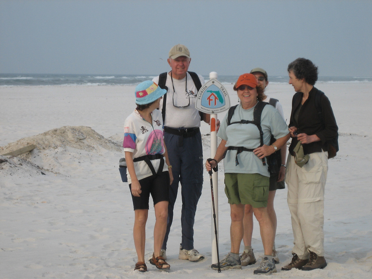 Kickoff of Panhandle Trace Hike, Santa Rosa Island<br /> PHOTO CREDIT: Sandra Friend / Florida Trail Association