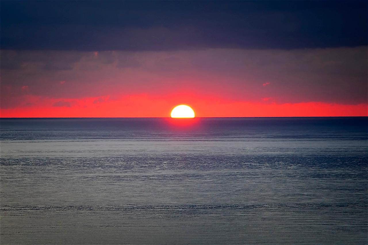 Sunrise Amid Storm Clouds, Miami Beach