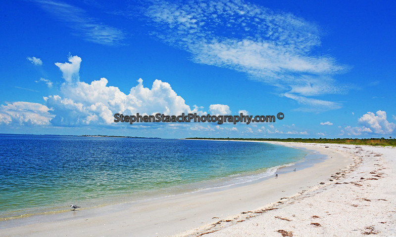 Beach at Cayo Costa State Park, Florida.