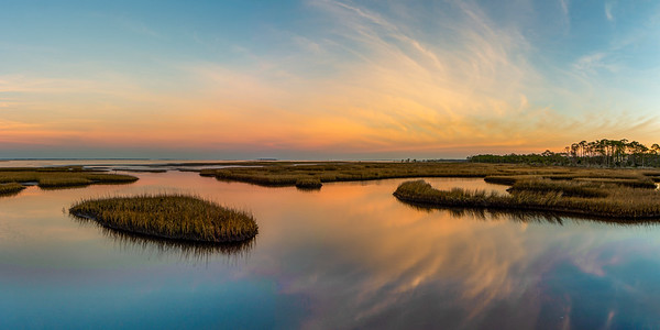 St. Joe Bay from Cape San Blas at Sunrise