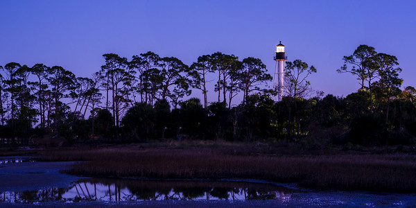 Lighthouse in Port St. Joe 2x1 Panorama