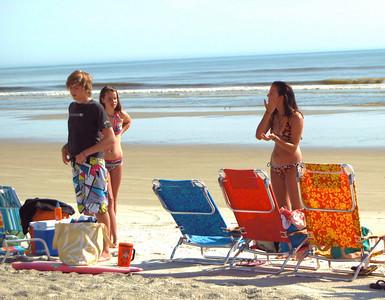 15 Teens on the Beach