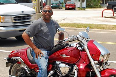 031 Motorcycle at Flagler Beach