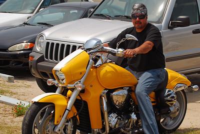 028 Motorcycle at Flagler Beach