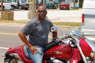 032 Motorcycle at Flagler Beach