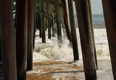 03 Wave action at Flagler Pier