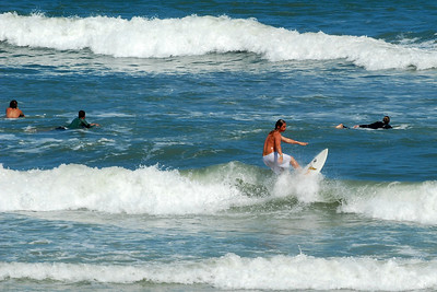 01 Surfer on Flagler Beach Florida