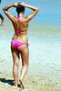 10 Bikini girls sunbathing on Flagler Beach