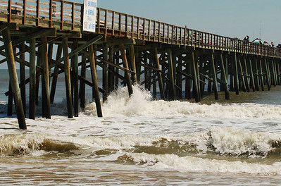 02 Wave action at Flagler Pier