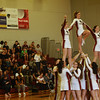 Florida Tech cheerleaders cheer for their team during the game against Trinity Baptist. (Photo by Amanda Stratford, for FLORIDA TODAY)