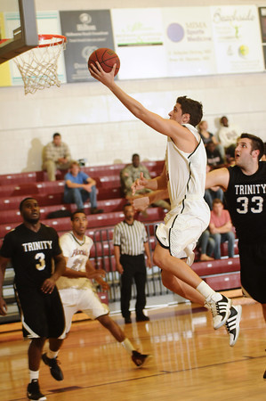 Nikola Lucic scores for Florida Tech during the second half against Trinity Baptist. (Photo by Amanda Stratford, for FLORIDA TODAY)