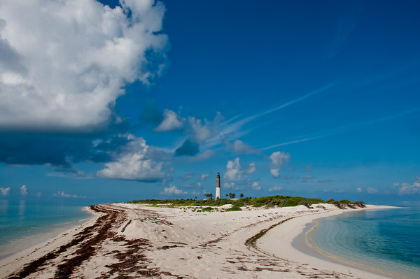 The view of Loggerhead Key from the north end.