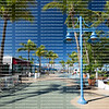 Sunny morning at Times Square in downtown Fort Myers Beach.