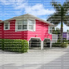 Colorful homes on Fort Myers Beach, Florida.