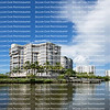 Beautiful Fort Myers Beach bayside waterfront condo skyline.