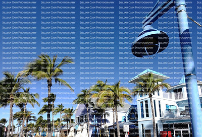 Times Square, a popular tourist destination in Fort Myers Beach, Florida and is considered the heart of Estero Island.