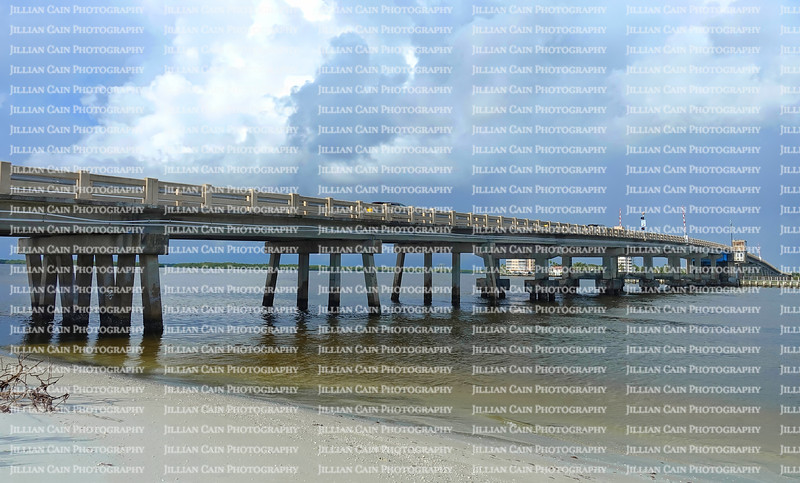 Dramatic skies over Big Carlos Bridge in Fort Myers Beach, Florida, USA.