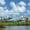Colorful waterfront homes on Estero Island in Fort Myers Beach, Florida