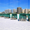 Green cabanas ready to be rented in front of Fort Myers Beach hotels and time share condos.