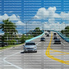 Traffic on the Mantanza Pass Bridge in Fort Myers Beach