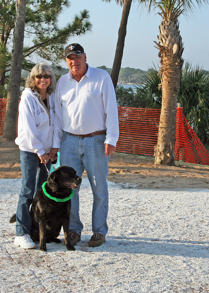 Billie and Tommy Puckett with Buddy