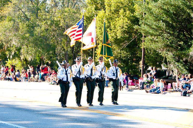 Orange CountyColor Guard in the 2011 Apopka Christmas Parade 12/10/11