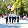 Orange CountyColor Guard in the 2011 Apopka Christmas Parade 12/10/11