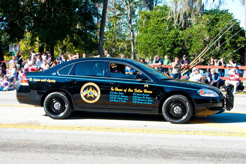 Orange County Memorial Cruiser in the 2011 Apopka Christmas Parade 12/10/11