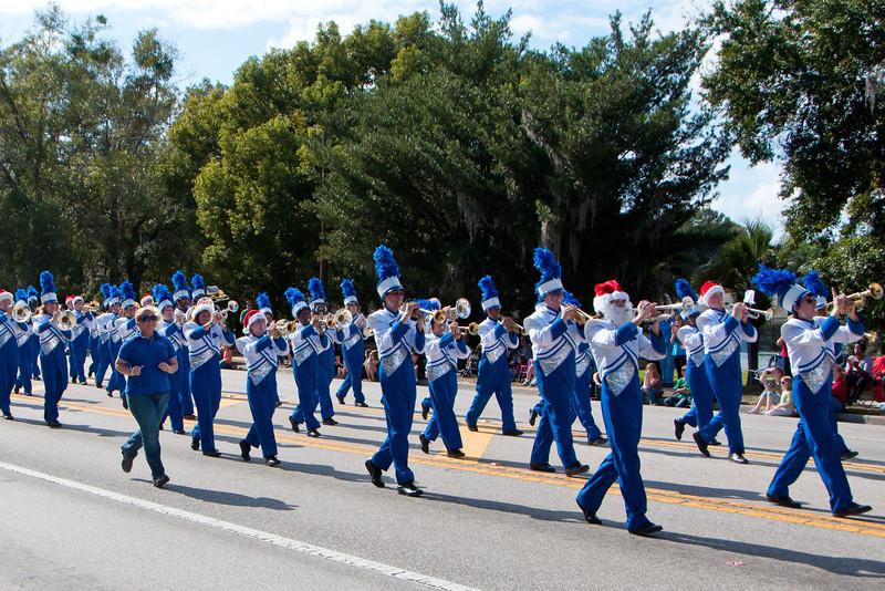 Apopka High Band in the 2011 Apopka Christmas Parade 12/10/11