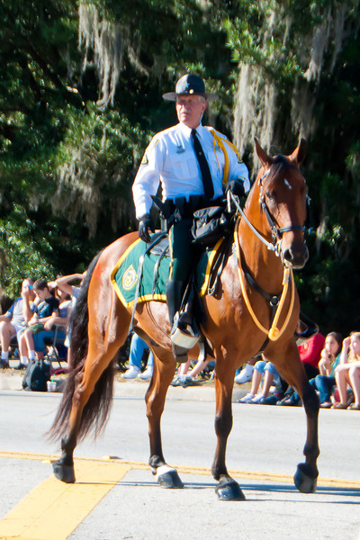 Orange County Deputy Terry Brewer in the 2011 Apopka Christmas Parade 12/10/11