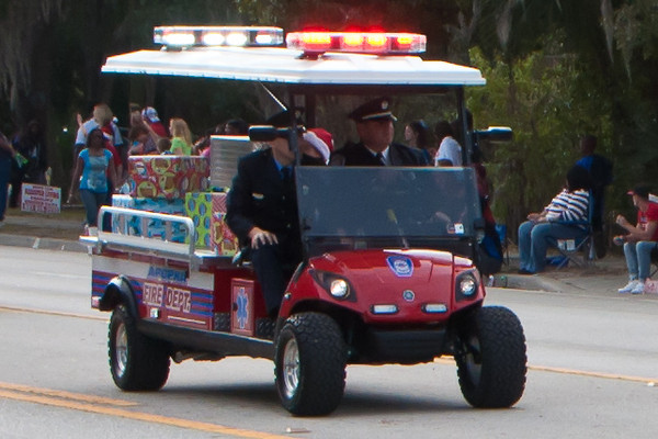 Apopka Fire in the 2011 Apopka Christmas Parade 12/10/11