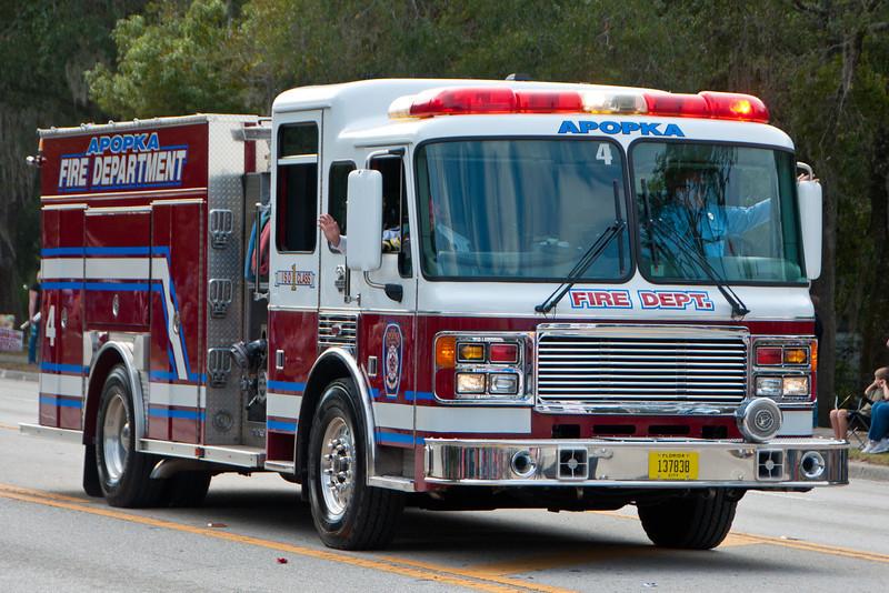 Apopka Fire in the 2011 Apopka Christmas Parade 12/10/11