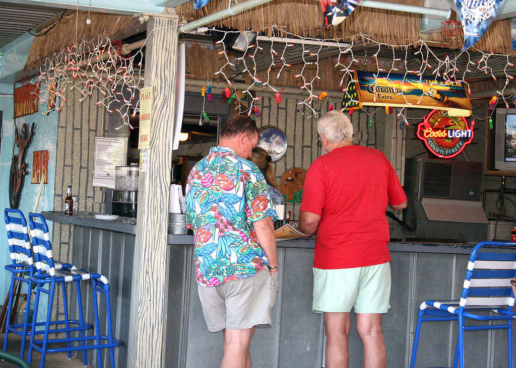 Mike Hanes and Mike at Riverside Resort Restaurant