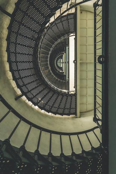 St. Augustine Lighthouse Staircase in Anastasia Island Florida