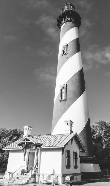 St. Augustine Lighthouse in Anastasia Island Florida