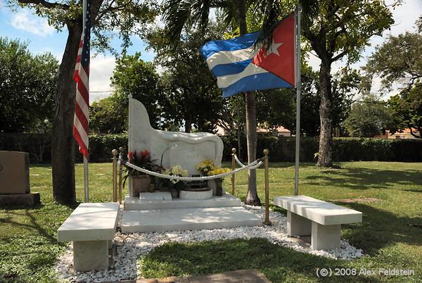 Jorge Mas Canosa's tomb (ex-Cuban-American National Foundation chairman)