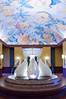 The interior decor of the Disney Swan Resort Hotel in Lake Buena Vista, Florida, USA.