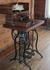 Very old sewing machine.