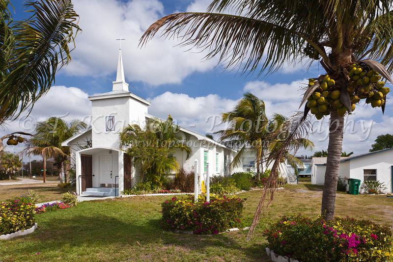 A small church in Everglades City, Florida, USA.