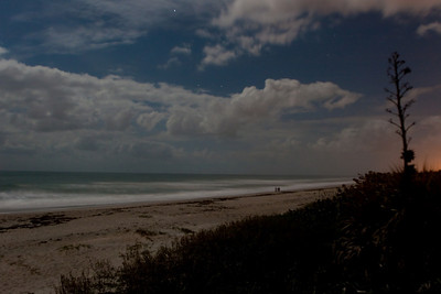 The beach by moonlight at Indialantic