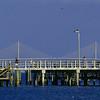 Ft Desoto Park pier & Sunshine Skyway