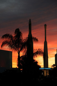Sunset at the Rocket Garden, Kennedy Space Center