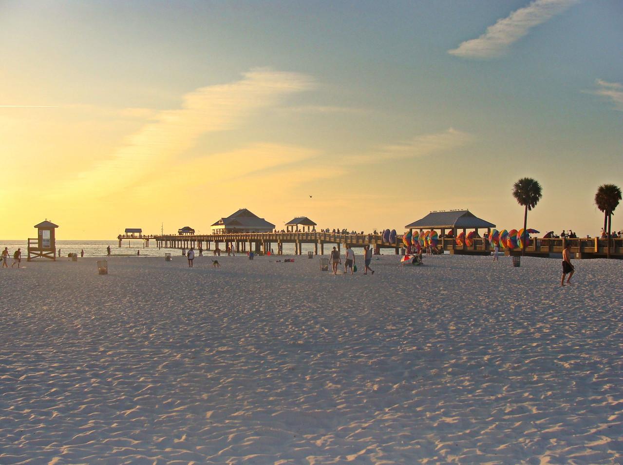 On the Beach at Sundown