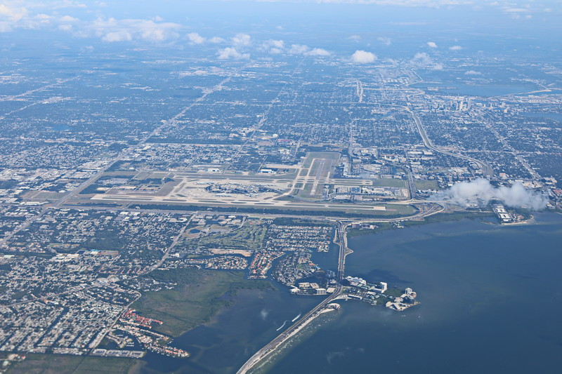 Approaching Tampa Airport