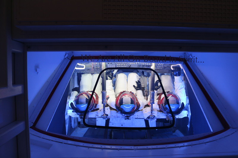 Apollo 11 Command Module with Simulated Astronauts