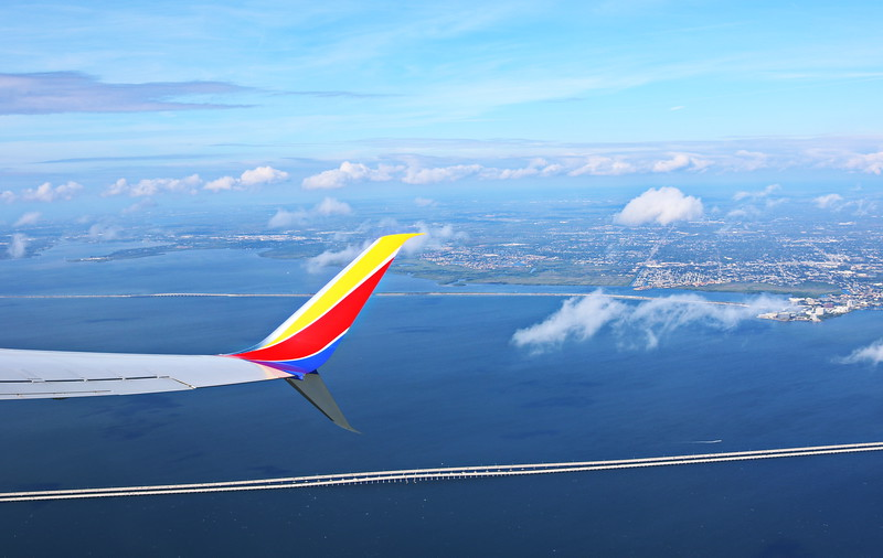 View of Tampa and the Howard Frankland Bridge