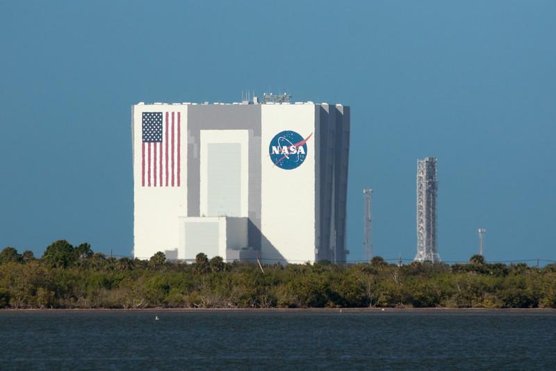 shimmery NASA Vehicl Assembly Building